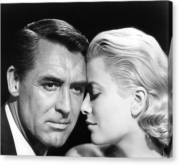 To Catch A Thief Cary Grant And Grace Kelly Canvas Print by Silver Screen