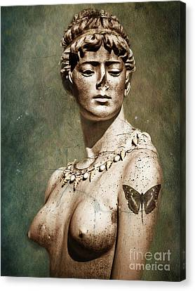 To Spite Her Face Canvas Print by Colleen Kammerer