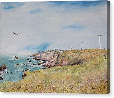 To The Lighthouse  Tribute To Virginia Woolf Canvas Print by Asha Carolyn Young