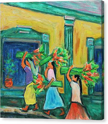 To The Morning Market Canvas Print by Xueling Zou