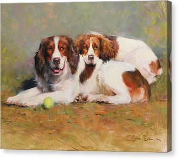 Toby And Ellie Mae Canvas Print by Anna Rose Bain