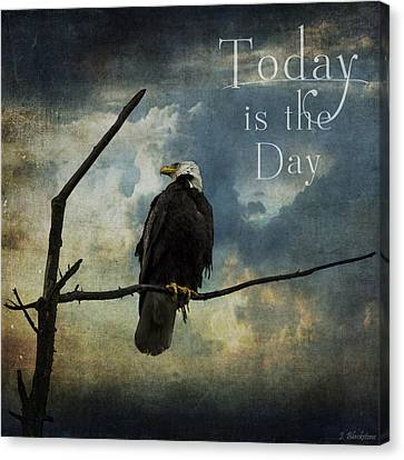 Today Is The Day - Inspirational Art By Jordan Blackstone Canvas Print by Jordan Blackstone