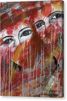 Together- Abstract Art Canvas Print by Ismeta Gruenwald