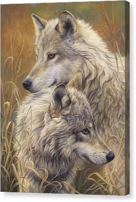Together Canvas Print by Lucie Bilodeau