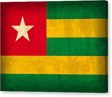 Togo Flag Vintage Distressed Finish Canvas Print by Design Turnpike