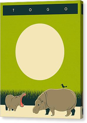 Togo Travel Poster Canvas Print by Jazzberry Blue