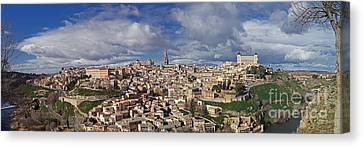 Toledo Old Town Panorama Canvas Print by Rudi Prott