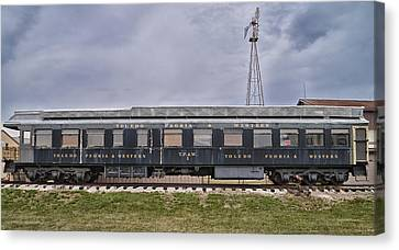 Toledo Peoria Western Rr Car Side View Canvas Print by Thomas Woolworth