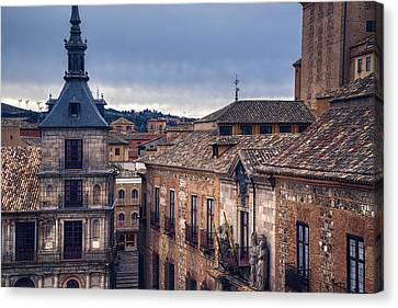 Toledo Rooftops II Canvas Print by Joan Carroll