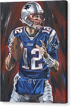 Tom Brady Canvas Print by David Courson