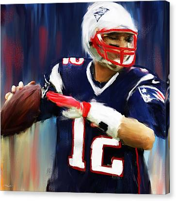 Tom Brady Canvas Print by Lourry Legarde
