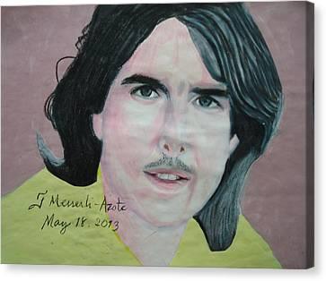 Tom Cruise 01 Canvas Print by Fladelita Messerli-