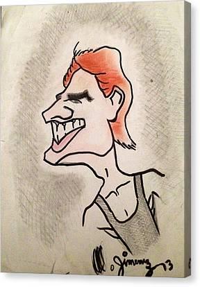 Tom Cruise Caricature Canvas Print by Mario  Jimenez