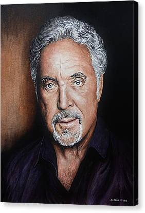 Tom Jones The Voice Canvas Print by Andrew Read