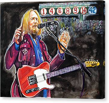 Tom Petty At Fenway Park Canvas Print by Dave Olsen