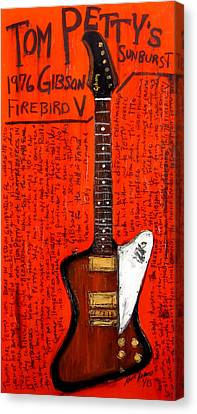Tom Petty's Gibson Firebird Canvas Print by Karl Haglund