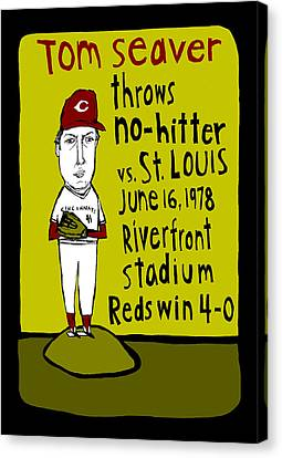 Tom Seaver Cincinnati Reds Canvas Print by Jay Perkins