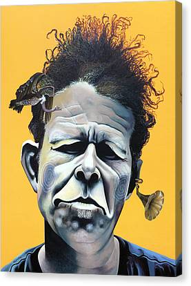 Tom Waits - He's Big In Japan Canvas Print by Kelly Jade King