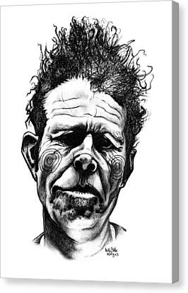 Tom Waits Canvas Print by Kelly Jade King