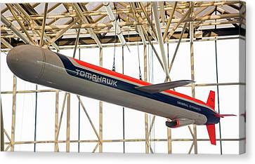 Tomahawk Cruise Missile In A Museum Canvas Print by Jim West