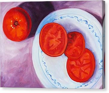 Tomato Canvas Print by Nancy Merkle