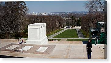 Tomb Of A Soldier In A Cemetery Canvas Print by Panoramic Images