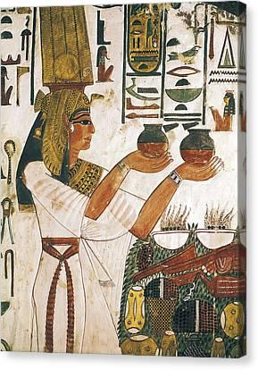 Tomb Of Queen Nefertari. Egypt. Dayr Canvas Print by Everett