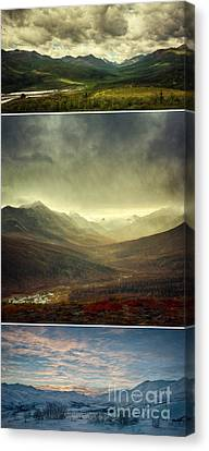 Tombstone Range Seasons Vertical Canvas Print by Priska Wettstein