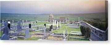 Tombstones In A Cemetery, Poulnabrone Canvas Print by Panoramic Images