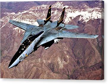 Tomcat Over Iraq Canvas Print by Benjamin Yeager