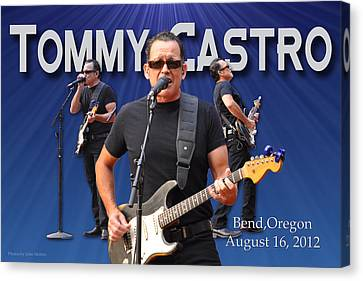 Tommy Castro  Canvas Print by John Melton