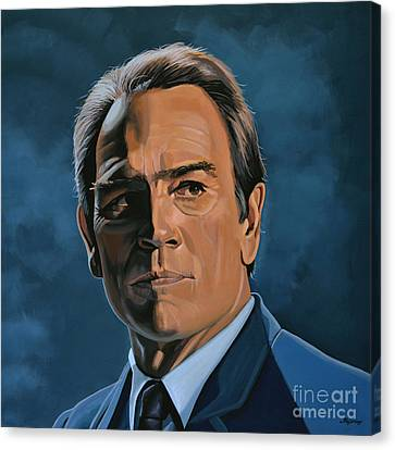 Tommy Lee Jones Canvas Print by Paul Meijering