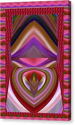 Tongue Twist Sensual Colorful Art Scratch Your Imagination  Canvas Print by Navin Joshi