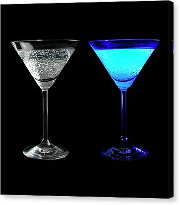 Tonic Water Fluorescing Canvas Print by Science Photo Library