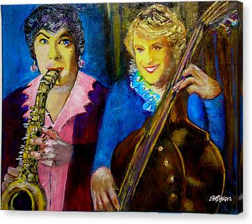 Tony And Jack-some Like It Hot Canvas Print by Seth Weaver