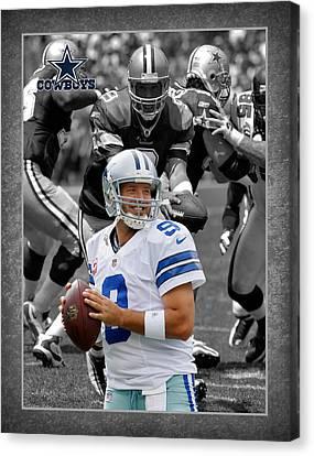 Tony Romo Cowboys Canvas Print by Joe Hamilton