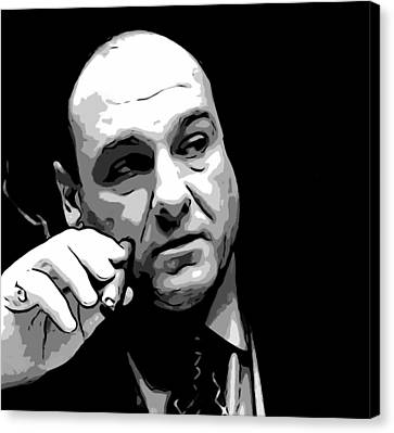 Tony Soprano Canvas Print by Dan Sproul