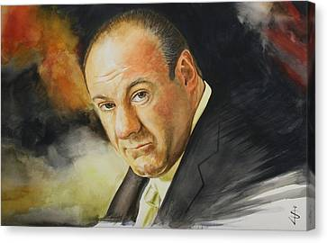 Tony Soprano Canvas Print by Jan Szymczuk