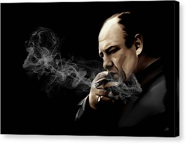 Tony Soprano Canvas Print by Laurence Adamson