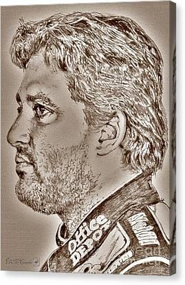 Tony Stewart In 2011 Canvas Print by J McCombie