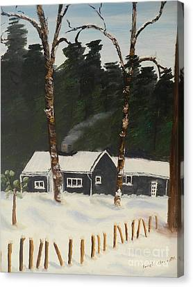Tonys House In Sweden Canvas Print by Pamela  Meredith