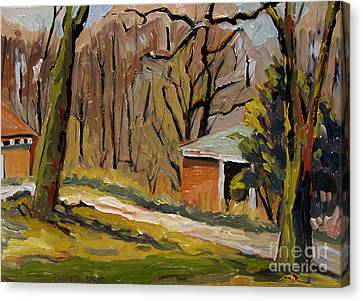 Tool Shed Still Cold Canvas Print by Charlie Spear