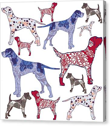 Top Dogs Canvas Print by Sarah Hough
