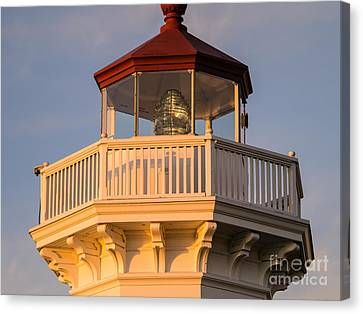 Deck Of Mukilteo Lighthouse Canvas Print by Tracy Knauer
