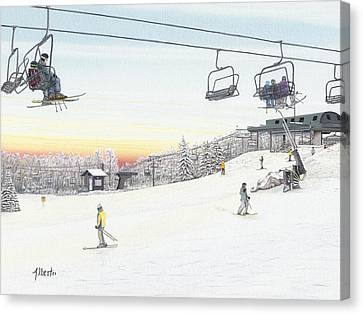 Top Of The Mountain At Seven Springs Canvas Print by Albert Puskaric