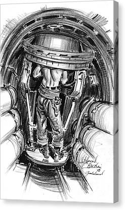 Top Turret B-17 1943 Canvas Print by Padre Art