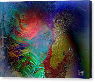 Topology Of Decalcomania Canvas Print by Otto Rapp