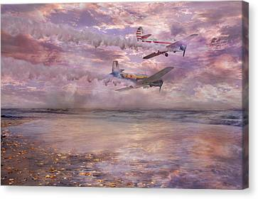 Topsail Flyers Canvas Print by Betsy Knapp