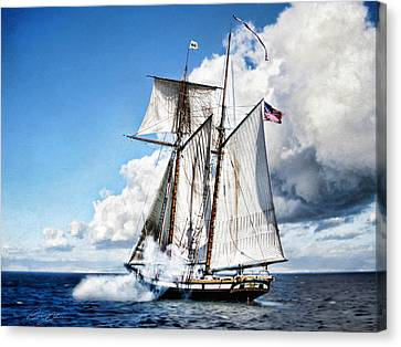 Topsail Schooner Canvas Print by Peter Chilelli