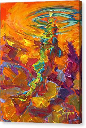 Topwater Trout Abstract Tour Study Canvas Print by Savlen Art
